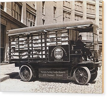 Picture 13 - New - Necco Delivery Truck Wood Print by Darlene Kwiatkowski