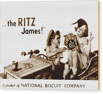 Picture 17- New- The Ritz James Wood Print by Darlene Kwiatkowski