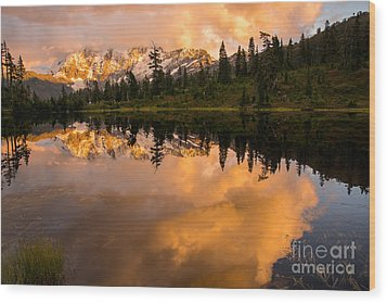 Picture Lake 1 Wood Print