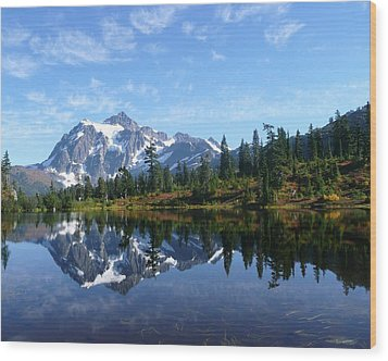 Picture Lake Wood Print