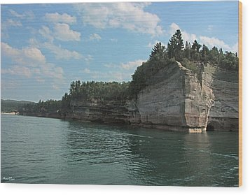 Pictured Rocks Battleship Formation Wood Print