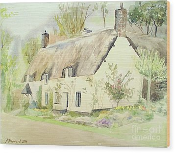 Picturesque Dunster Cottage Wood Print