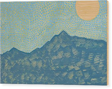 Picuris Mountains Original Painting Wood Print by Sol Luckman