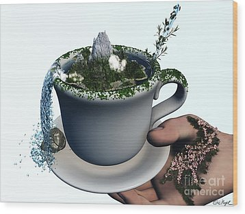 Piece Of Nature Cup Wood Print by Eric Nagel