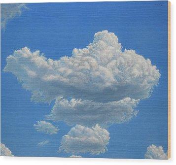 Piece Of Sky 3 Wood Print by James W Johnson