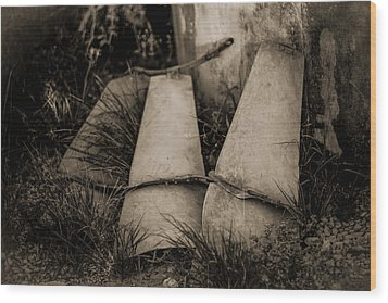 Wood Print featuring the photograph Pieces Of The Windmill by Amber Kresge