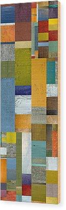 Pieces Parts Lv Wood Print by Michelle Calkins