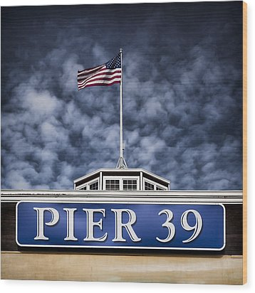 Pier 39 Wood Print by Dave Bowman