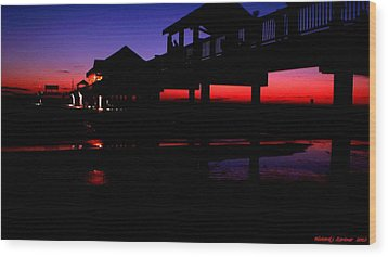 Wood Print featuring the photograph Pier 60 In After Glow 2 by Richard Zentner