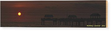 Wood Print featuring the photograph Pier 60 Sunset Panorama by Richard Zentner