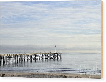 Pier Wood Print by Gandz Photography