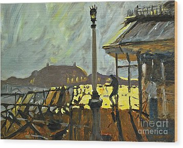 Pier At Brighton Wood Print by Amy Fearn
