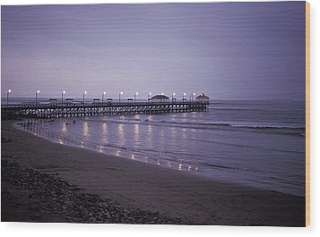 Wood Print featuring the photograph Pier At Dusk by Lana Enderle