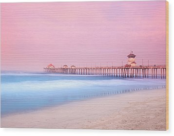 Pier In Early Morning Wood Print