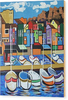 Pier One Wood Print by Anthony Falbo