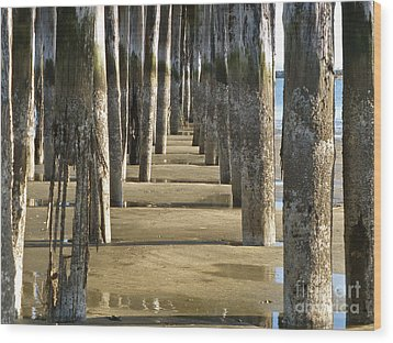 Wood Print featuring the photograph Pier Pressure by K L Kingston