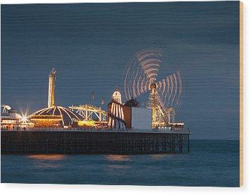 Pier Resplendant Wood Print by Jacqui Collett