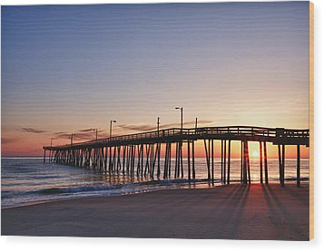 Pier Sunrise Wood Print by Gregg Southard