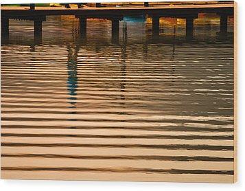 Pier Walk Wood Print by Joan Herwig