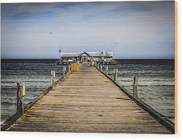Pier Walkway Wood Print by Chris Smith