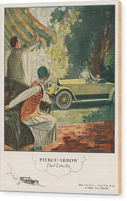 Pierce Arrow 1925 1920s Usa Cc Cars Wood Print by The Advertising Archives