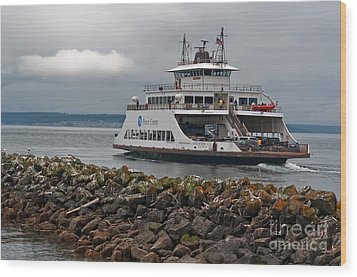 Pierce County Washington Ferry Wood Print by Valerie Garner