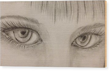 Piercing Eyes Wood Print