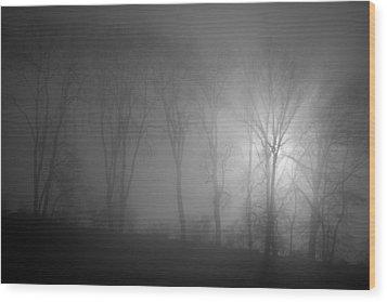 Piercing Light Wood Print