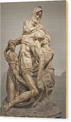 Pieta By Michelangelo Wood Print