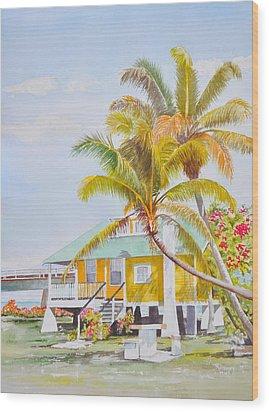 Pigeon Key - Home Wood Print by Terry Arroyo Mulrooney