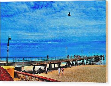 Pigeon Pier - Glenelg Beach - Australia Wood Print
