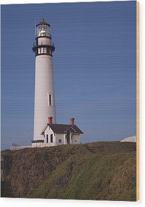 Wood Print featuring the photograph Pigeon Point Lighthouse #2 by Jim Snyder