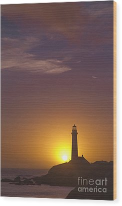 Pigeon Point Lighthouse 2 Wood Print by Theresa Ramos-DuVon