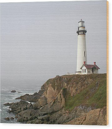 Pigeon Point Lighthouse Wood Print by Art Block Collections