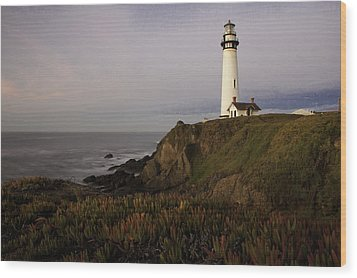 Wood Print featuring the photograph Pigeon Point Lighthouse by Jim Snyder