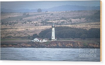 Pigeon Point Lighthouse Wood Print by Mitch Shindelbower