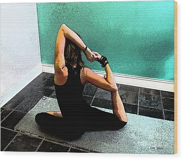 Pigeon Pose Variation Wood Print