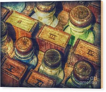 Pigments Wood Print by Valerie Reeves