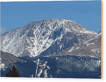 Pikes Peak Close-up Wood Print