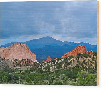 Pikes Peak Wood Print by Dan Miller
