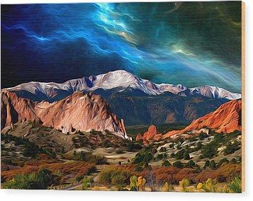 Pikes Peak Feelin' It... Wood Print by John Hoffman