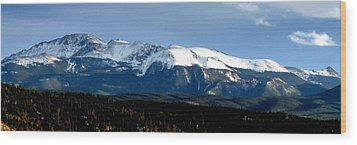 Pikes Peak Panorama Wood Print
