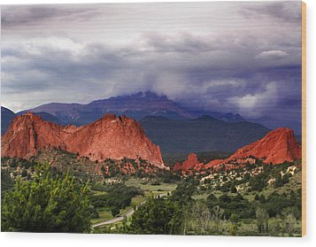 Wood Print featuring the photograph Pikes Peak Storm by Rod Seel