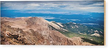 Pikes Peak Vista Wood Print
