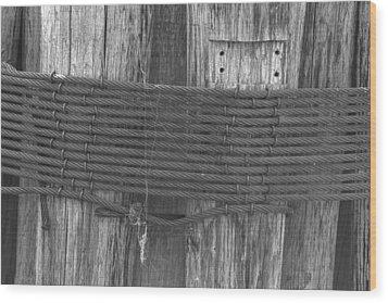 Pilings Wood Print by Bill Mock