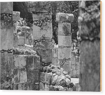 Wood Print featuring the photograph Pillars In Disarray by Kirt Tisdale
