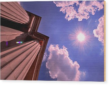 Wood Print featuring the photograph Pillars In The Sun by Matt Harang