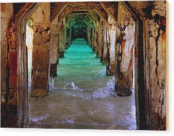 Pillars Of Time Wood Print by Karen Wiles