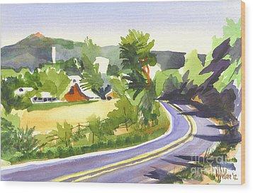 Pilot Knob Mountain Out Jj Wood Print by Kip DeVore