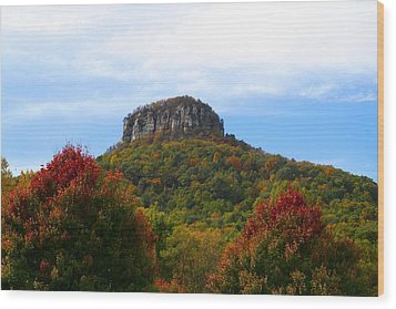 Pilot Mountain From 52 Wood Print